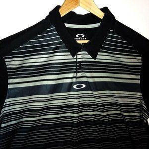 Oakley Hydrolix Polo Shirt Blk/Wht Regular Fit XL